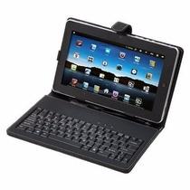 Capa Case Couro C/teclado Usb+caneta Touch P/tablet 7 Pol