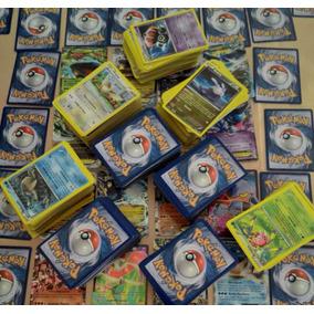 Mega Lote Com 100 Cartas Pokemon Mais Ex Garantida