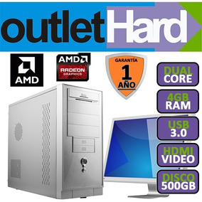 Computadora Completa Dual Core 4gb Led 16 Nueva! Oferta!!
