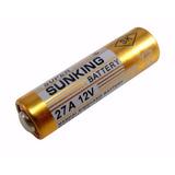 Pilha Bateria Alcalina 12v 23a Sunking Aaa Cartela 5 Unidad