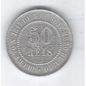 Brasil-império 50 Réis 1886 S/fc Cupro-níquel - 7g - 22mm