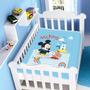 Cobertor Jolitex Infantil Berço Bebê Disney Mickey Barquinho