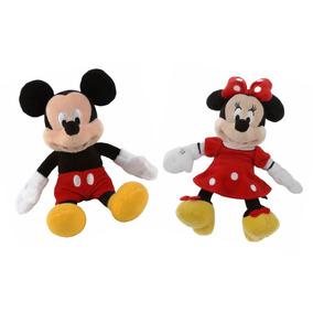 Mickey Mouse Y Minnie Roja 2 Peluches Disney Mimi 23 Cm