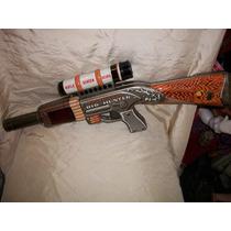 Antiguo Juguete Pistola De Lata Litografiada Japonesa Jada