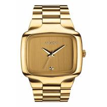 Relógio Nixon Big Player 44mm Cor Ouro Com Diamante Original