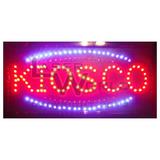 Cartel Luminoso Led Pizza, Abierto, Kiosco, Bar, Cafe Y +