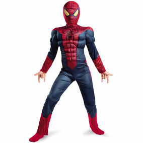 Fantasia Homem Aranha Infantil Luxo Músculos Spiderman Festa