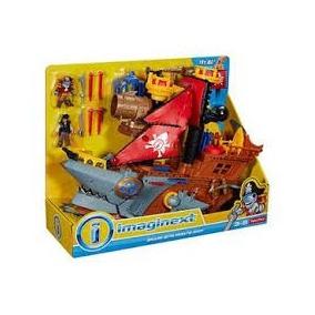 Imaginext Navio Pirata Tubarão Mattel Fisher Price Pronta En