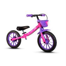 Bicicletas Infantil Balance Bike Equilíbrio Sem Pedal Rosa