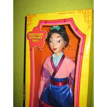 Princesa Mulan Ed Limitada Disney Porcelana Remate Vintage
