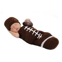 Disfraz Para Niño Elee Infant Football Crochet Knit Photogr