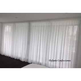 cortinas en tela voile frances para rieles barrotes tensores