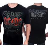 Camiseta Acdc Black Ice E470 Consulado Do Rock Camisa Banda