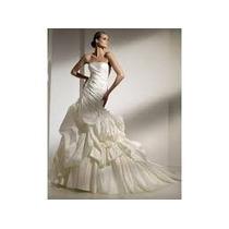 Vestido Pronovias Mercadal Tamanho 10 Usa Off-white