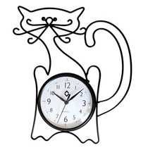 Reloj De Hierro Forjado Figura Gato Bigotón