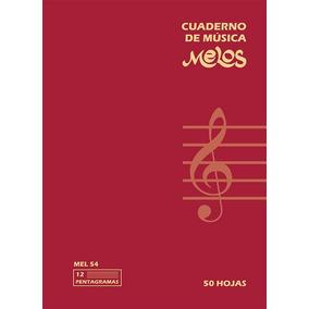 Cuaderno Música Pentagramado Melos 50 Hojas Ctabla Acordes