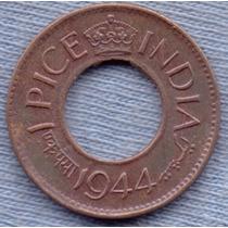 India 1 Pice 1944 * Colonia Inglesa * Orificio * George Vi *
