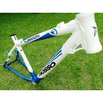 Quadro Bicicleta Alum. Mosso Turmoil 26 T19 Bco/az 011388