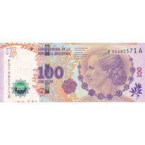 Argentina Billete De 100 Pesos Evita Serie A Reposicion