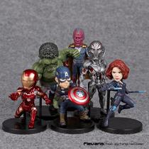 Kit 6 Bonecos Marvel Avengers Homem De Ferro, Hulk, Outros