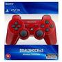 Control Ds3 Para Ps3 Rojo Original En Caja Azul