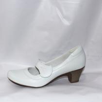 Sapato Feminino Couro Legítimo Neftali 4730 Enfermagem Promo
