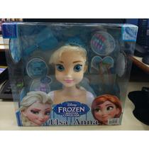 Cabeça De Boneca Para Maquiagen E Pentear Da Elsa Frozen