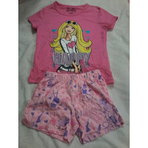 Pijama De Short Barbie Producto Original