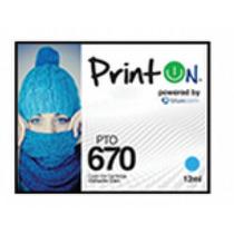 Cartucho Printon Compatible Hp 670 Cyan