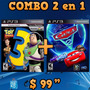 Combo 2en1: Toy Story 3 + Cars 2: The Video Game - Ps3