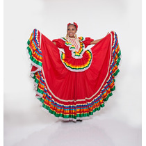 Traje De Jalisco Tipo Profesional Para Mujer Bailables Danza