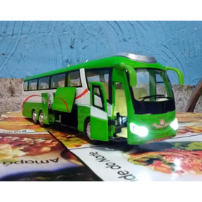 Miniatura Ônibus Metal Abre Portas Luzes E Som