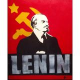 Lenin Cuadro Pintura Óleo En Tela Bastidor 40x50 - Envíos
