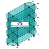 Balcão De Vidro Modulado Central Ideal 0,90x1,00x0,40 Oferta