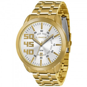 Relógio Lince Mrg4332s B2kx Masculino Dourado - Refinado