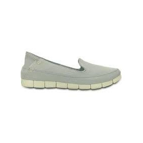 Crocs Panchas Mujer Stretch Sole Skimmer Gris Originles