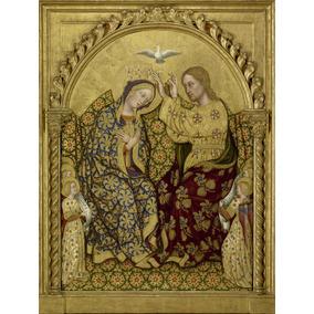 Lienzo, Tela, Coronación De La Virgen, Arte Sacro, 60x90cm