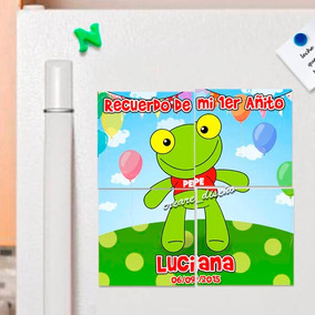 10 Souvenirs Cumpleaños Rompecabezas Imantados Sapo Pepe