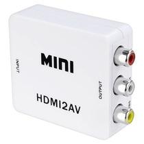 Mini Adaptador Convertidor Señal Hdmi - Rca Audio Y Video