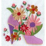 Diseño De Matrices P/ Maquinas De Bordar Zapatos Con Flores