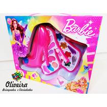 Estojo De Maquiagem Infantil Barbie (maquiagem Para Criança)