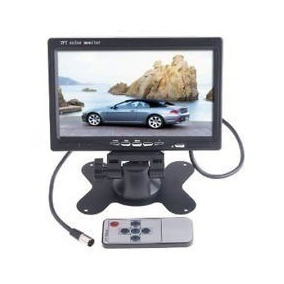 Tela Monitor Tft Lcd 7 Polegada Colorida Com Controle Remoto