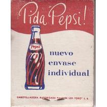 Publicidad Uruguay Refresco Pepsi Cola Caja Fosforos Vintage