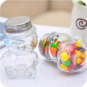 30 Frascos Vidrio Osito /recuerdo/ Candy Bar/baby Shower Oso