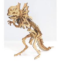 Dinosaurio Dilophosaurus Rompecabezas 3d En Mdf