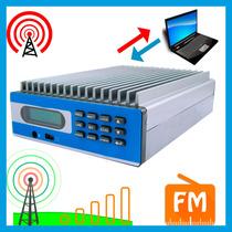 Transmisor Fm 15w Control Con Pc + Antena 15 Km Profesional