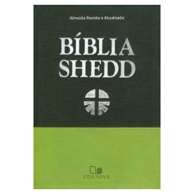 Bíblia De Estudo Shedd Luxo - Duotone Verde - Frete Gratis