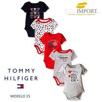 Set 5 Bodys Tommy Hilfiger Bebe Niña Hembra De 0 A 3 Meses