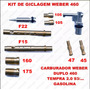 Kit Giclegem Carburador Tempra 2.0 Gas Weber Duplo 460
