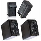 2 Baterias Vbg6 + Um Carregador P/ Panasonic Ag-ac7 Full Hd